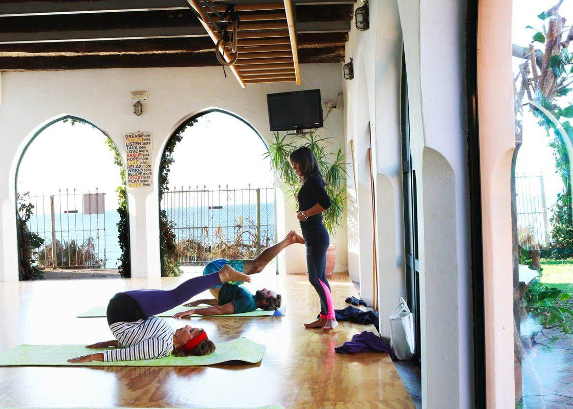 Pilates group class at the hurricane studio in Tarifa close to Los lances and valdevaqueros beach