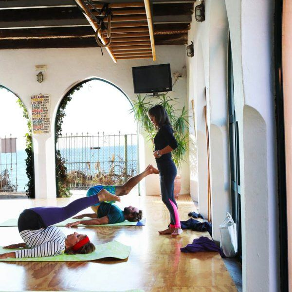 Pilates group class at the hurricane studio in Tarifa close to Los lances and valdevaqueros beach