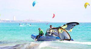 Rescue boats when offshore wind in Tarifa