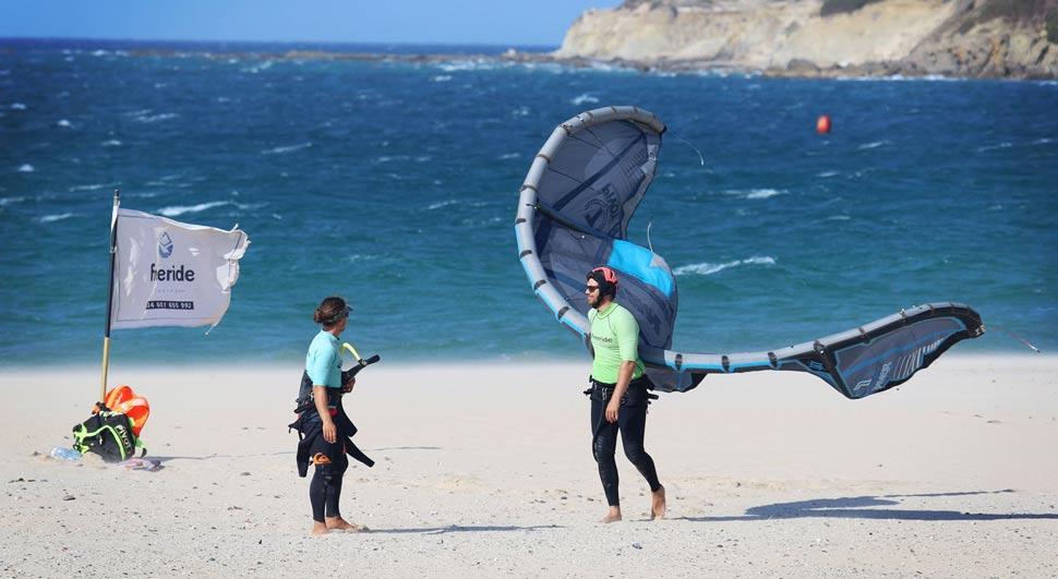 Side or Cross Shore wind in Valdevaqueros beach in Tarifa