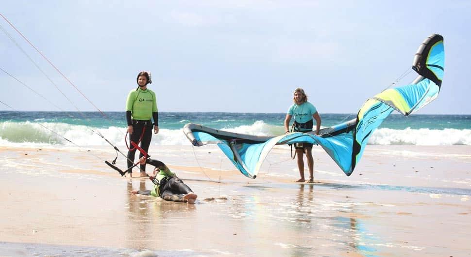 Side Onshore wind in Los Lances beach Tarifa