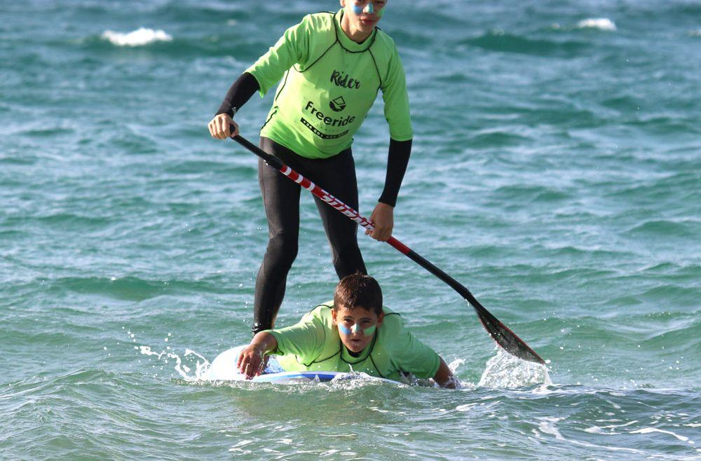 Stand Up Paddle Board In Tarifa Spain, Valdevaqueros Beach,Freeride Tarifa Kitesurf School