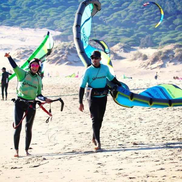 Kitesurf, in valdevaqueros, semi-private class for all level in Tarifa.