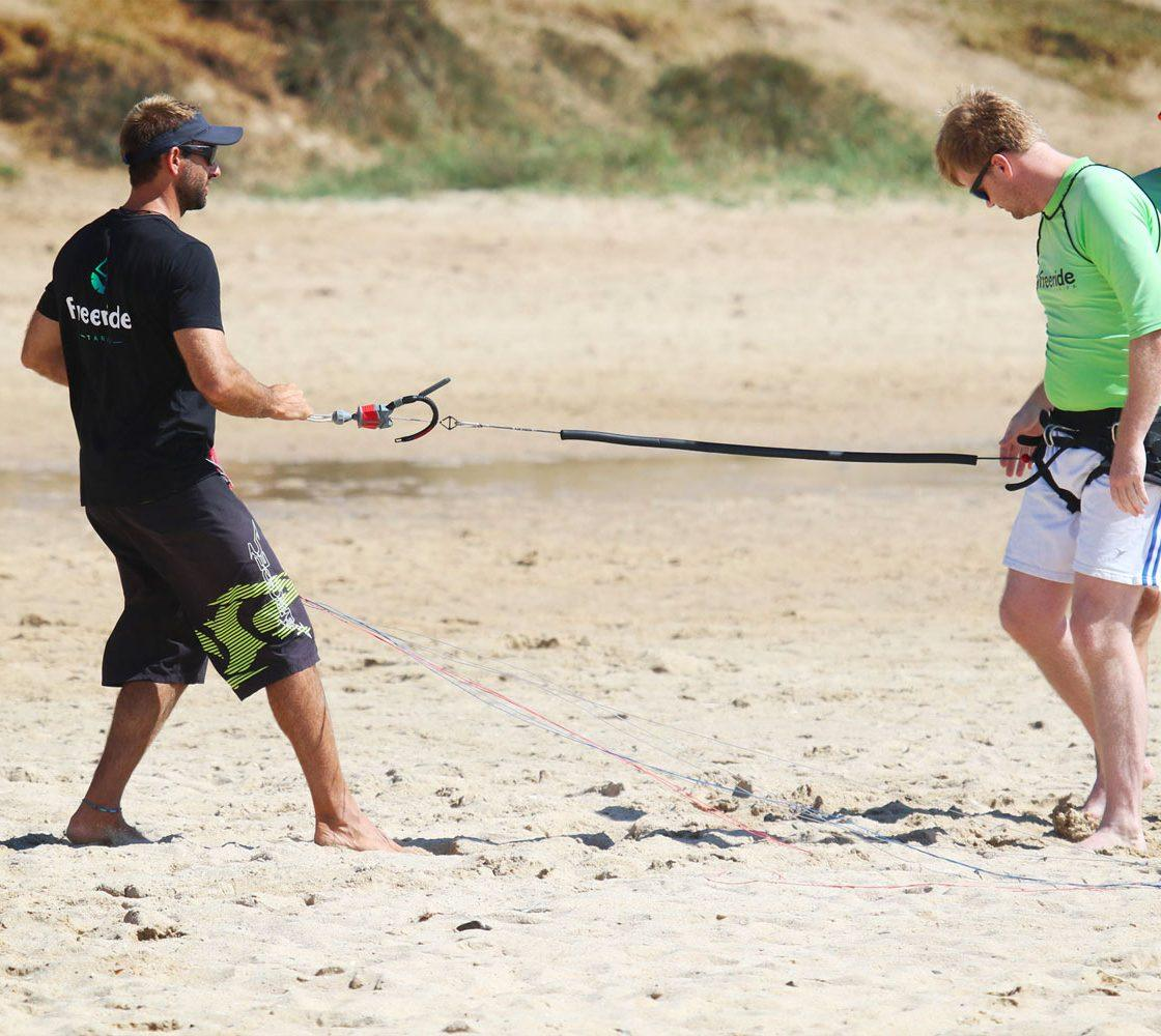 beginner courses. Security system. Kite school Freeride Tarifa