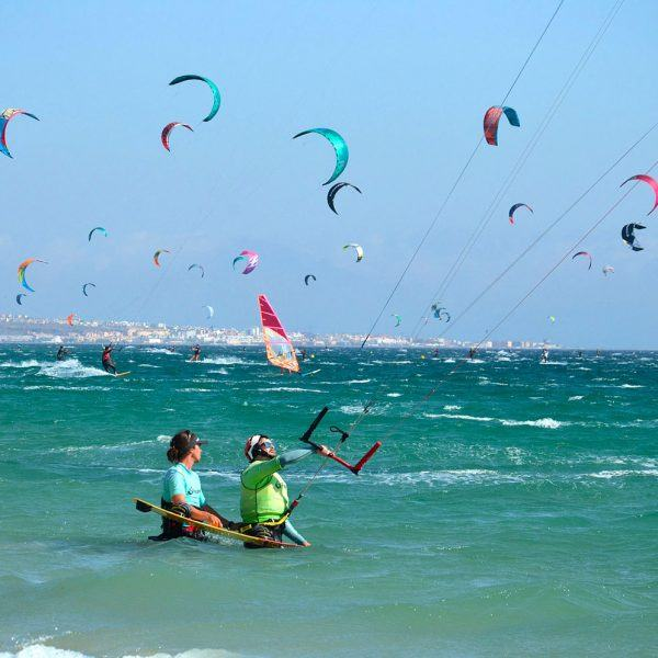 Tarifa, the kitesurf mecca of europe. Kitesurfing school Freeride tarifa.