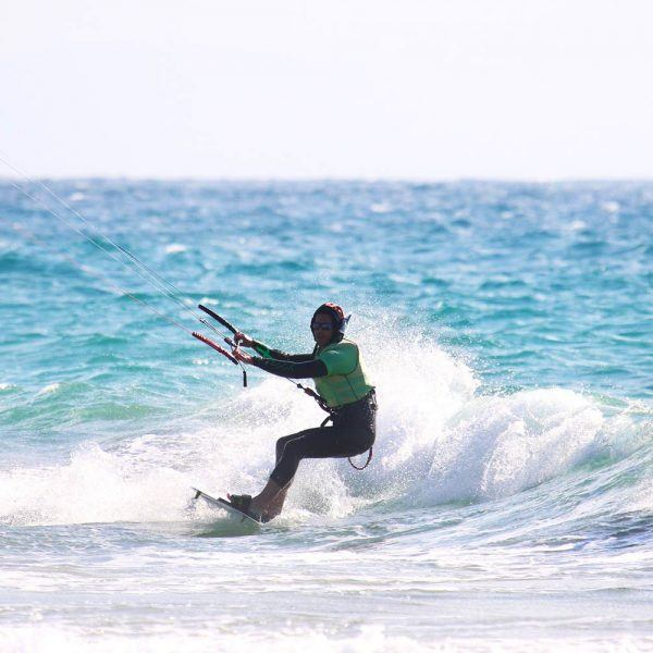 Riding after few lessons. Kiteboarding school in spain, Freeride Tarifa