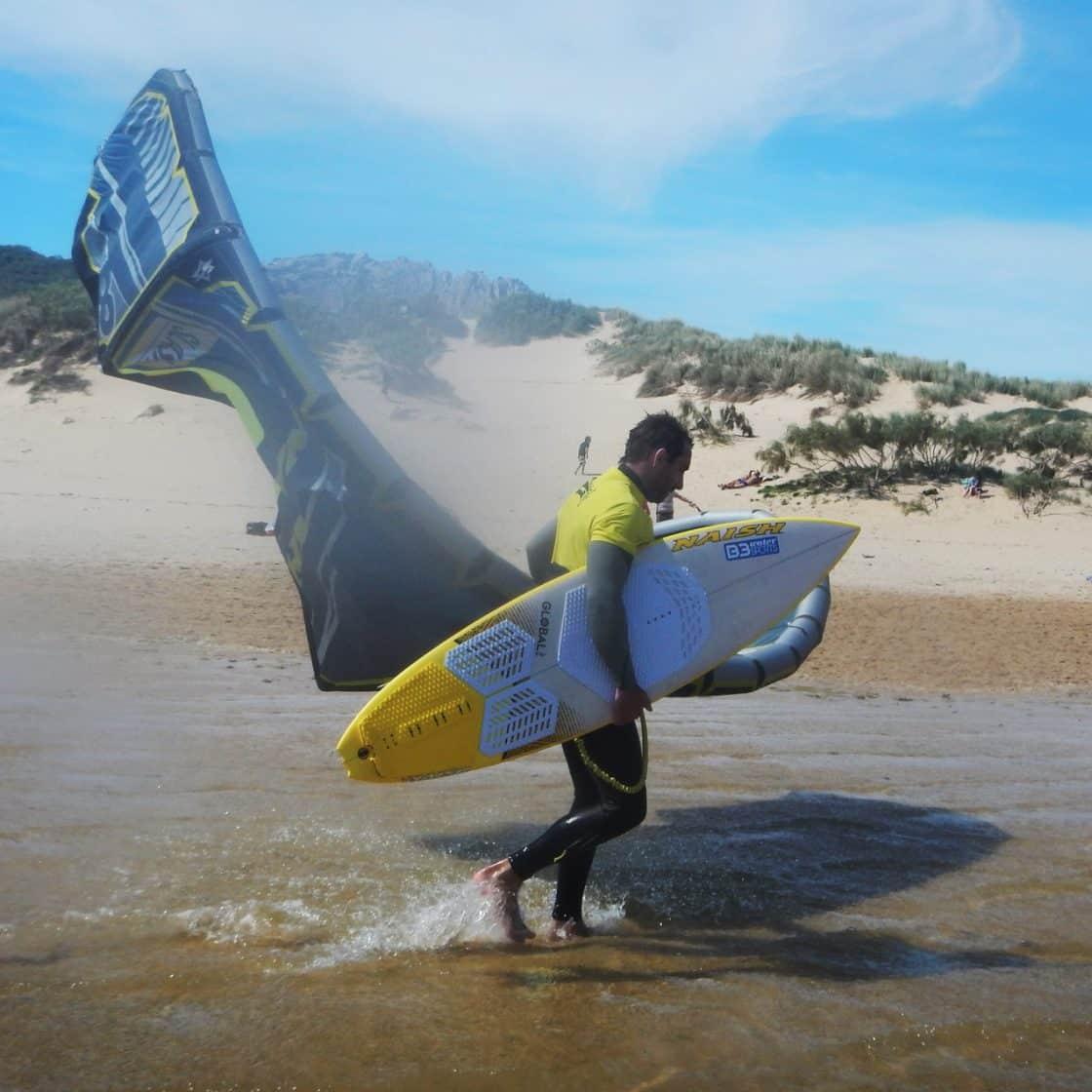 Valdesvaqueros beach, Tarifa in spain. Naish equipment