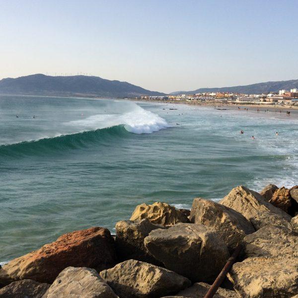 Tarifa, Balneario Beach. Surf, sea, kitesurfing