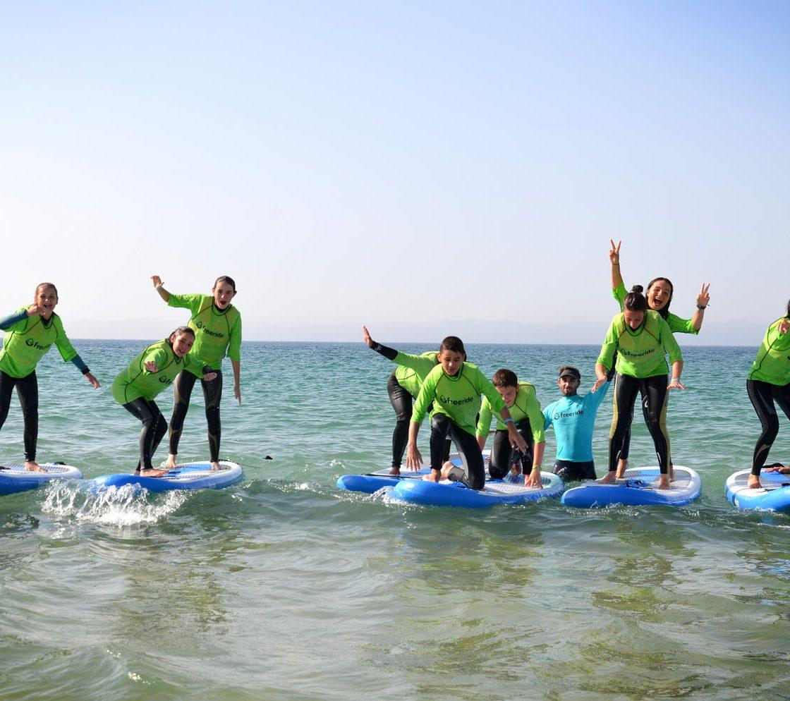 SUP, Paddle board to surf the waves in valdevaqueros. Tarifa