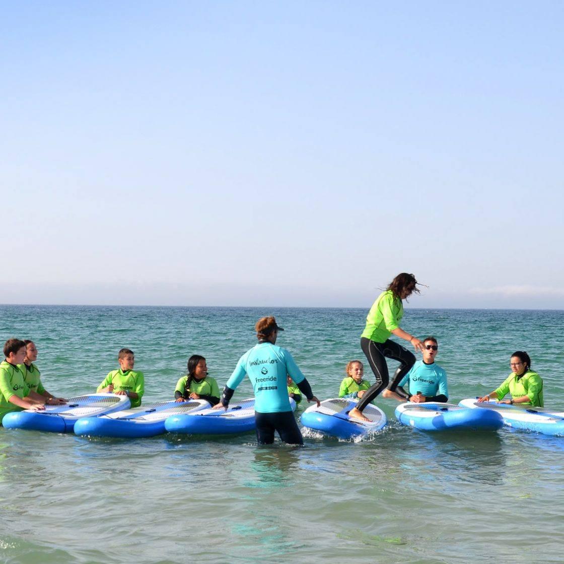 plage de Valdevaqueros, exercice stand up paddle