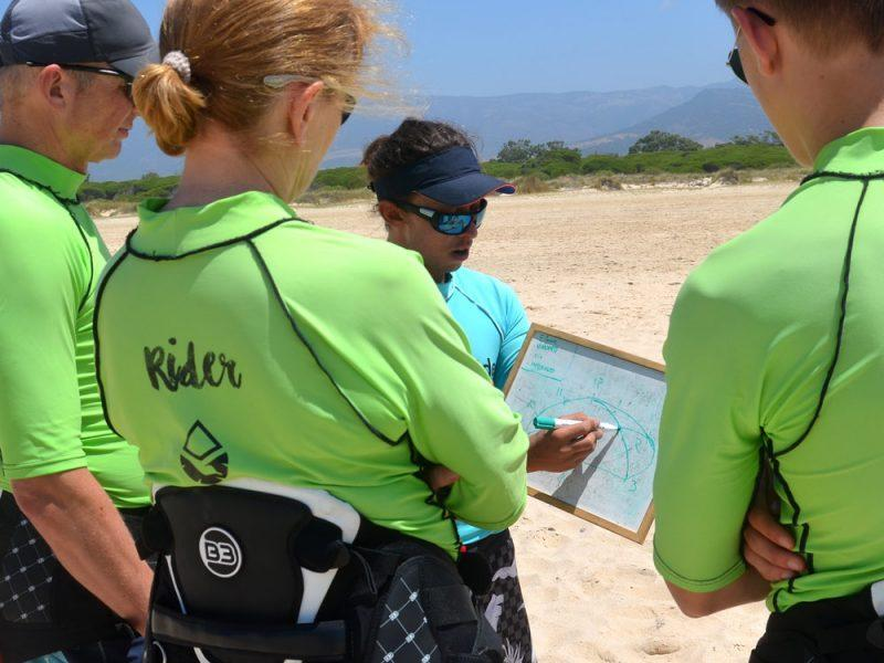 The Wind Window, Los Lances beach In Tarifa Spain. Kiteboarding classes for beginners.