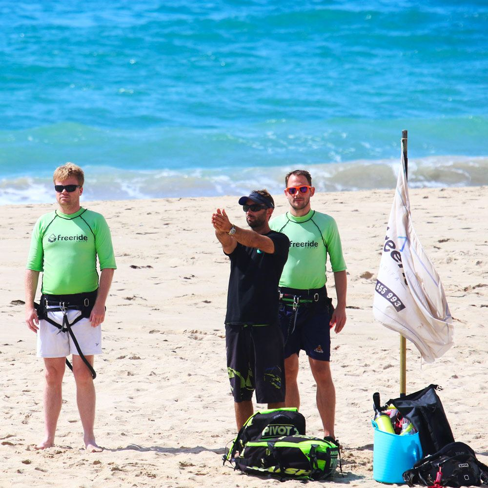 Kitesurf for beginners, watersports school specialised in kitesurfing, Freeride Tarifa in spain