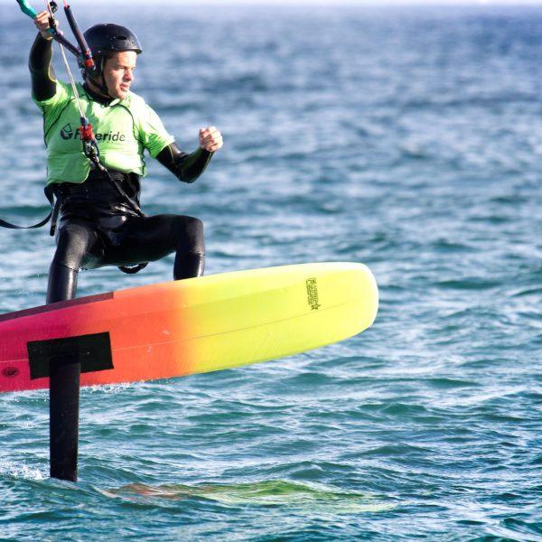 Entrainement de kitefoil, Tarifa, cours de foil pour beginner