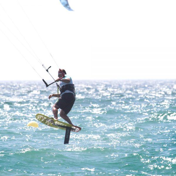 kitefoil entrainement, sport de voile