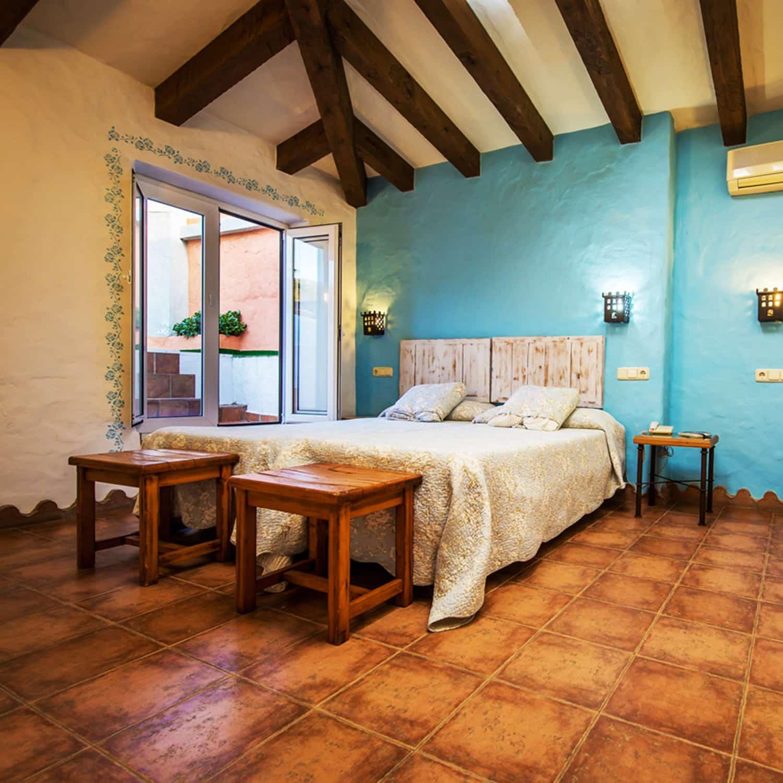 chambre, style andalou, hôtel, Tarifa