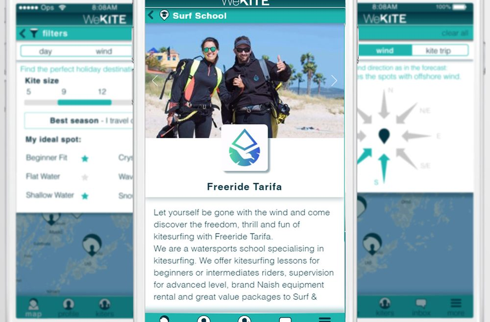 Kite-Mates Application for riders and business