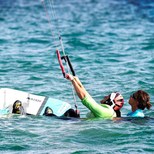 Our instructors certified IKO follow you in each stage of kitesurfing lessons.