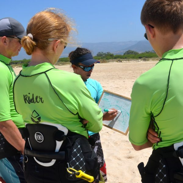 Kiteboarding introduction, wind window. Kitesurf classes. Group lessons in Tarifa, spain.