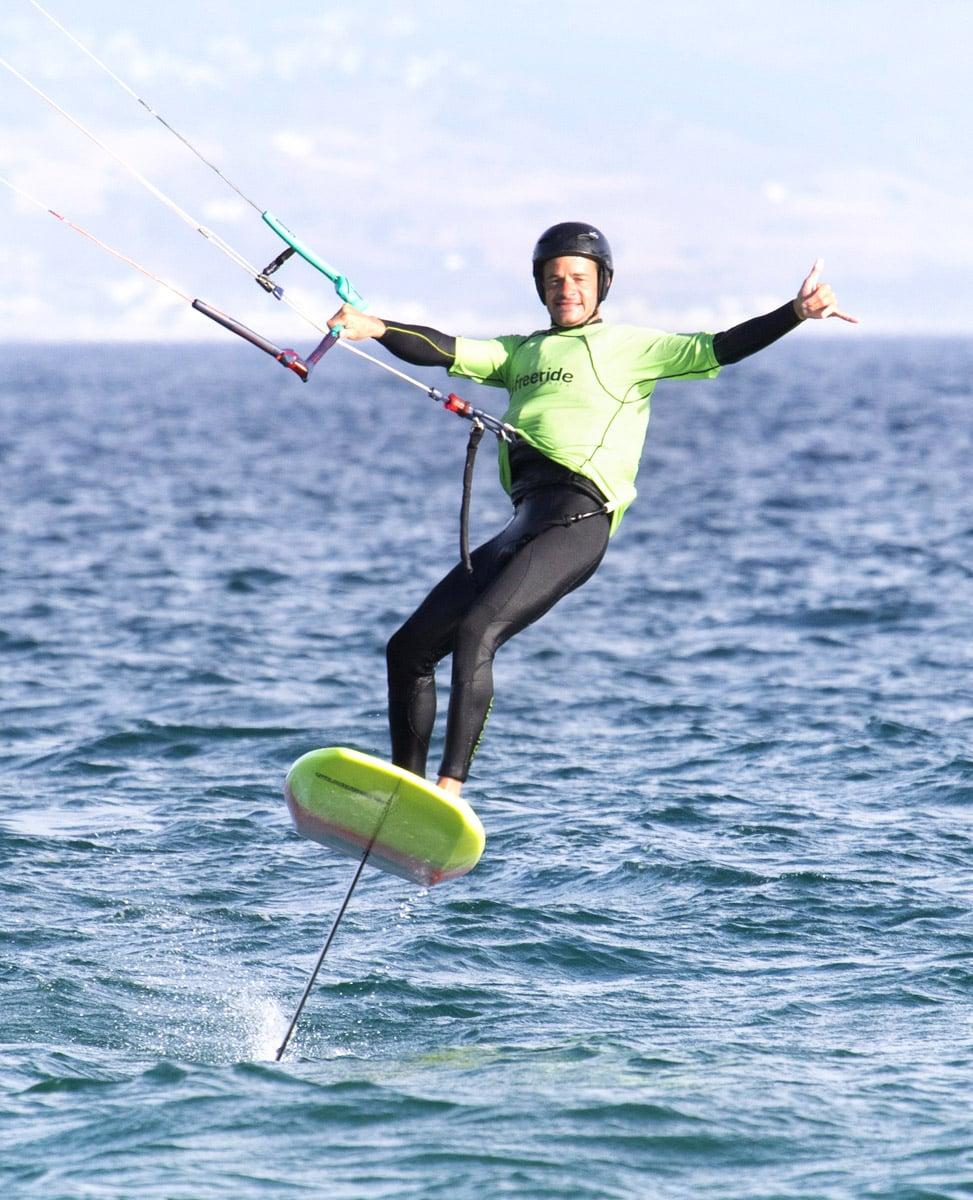 cours de kitefoil, sensation de glisse