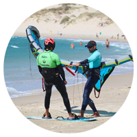 session de kitesurf, apprentissage
