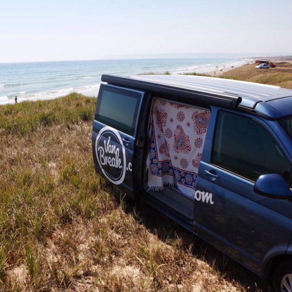 vanbreak, vue sur la mer, road trip, surfing, spain