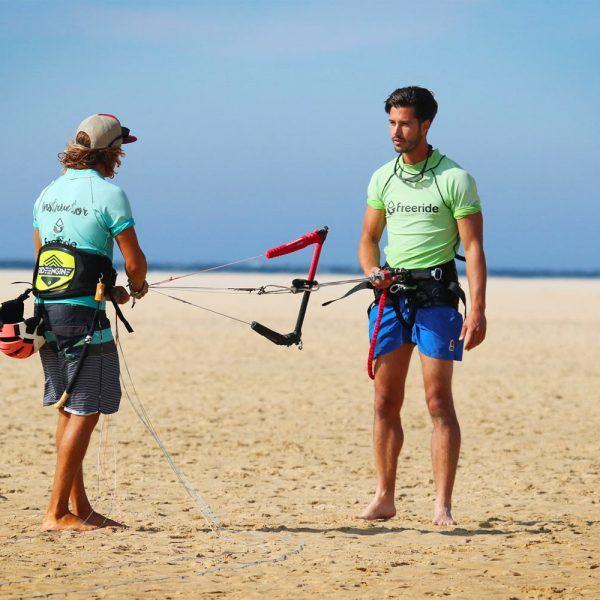 Beginner class with Freeride Tarifa, los lances beach spain