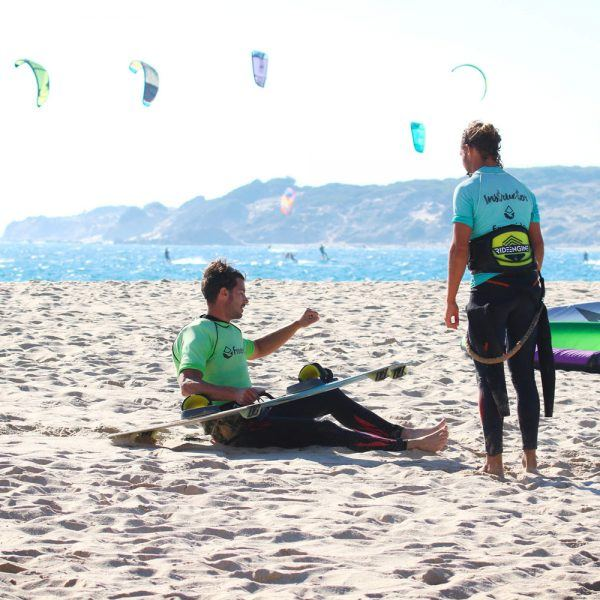 Waterstart level in private class in valdevaqueros beach spain