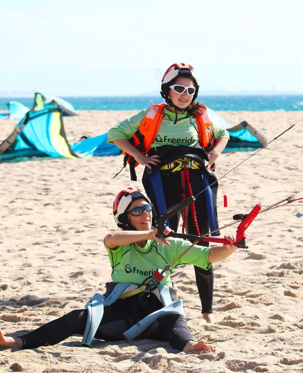 Training class in valdevqueros, all level in kitesurfing.