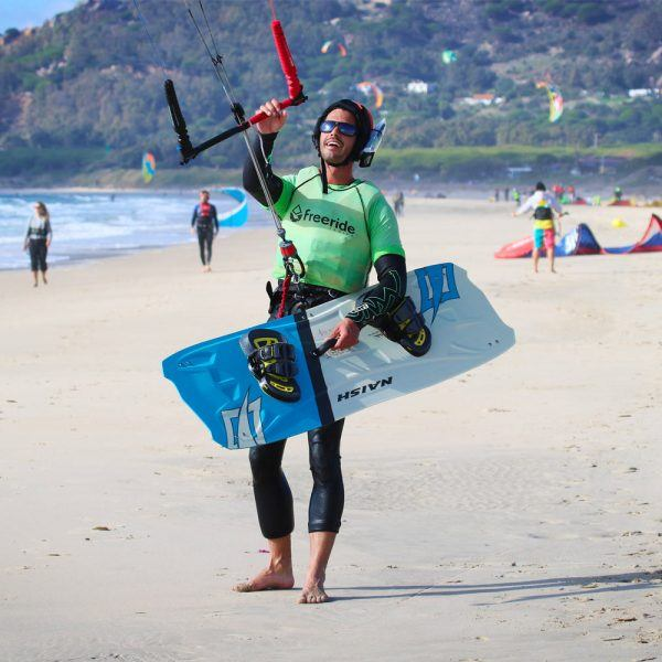 Kitesurfing courses in private class, los lances beach with Freeride Tarifa