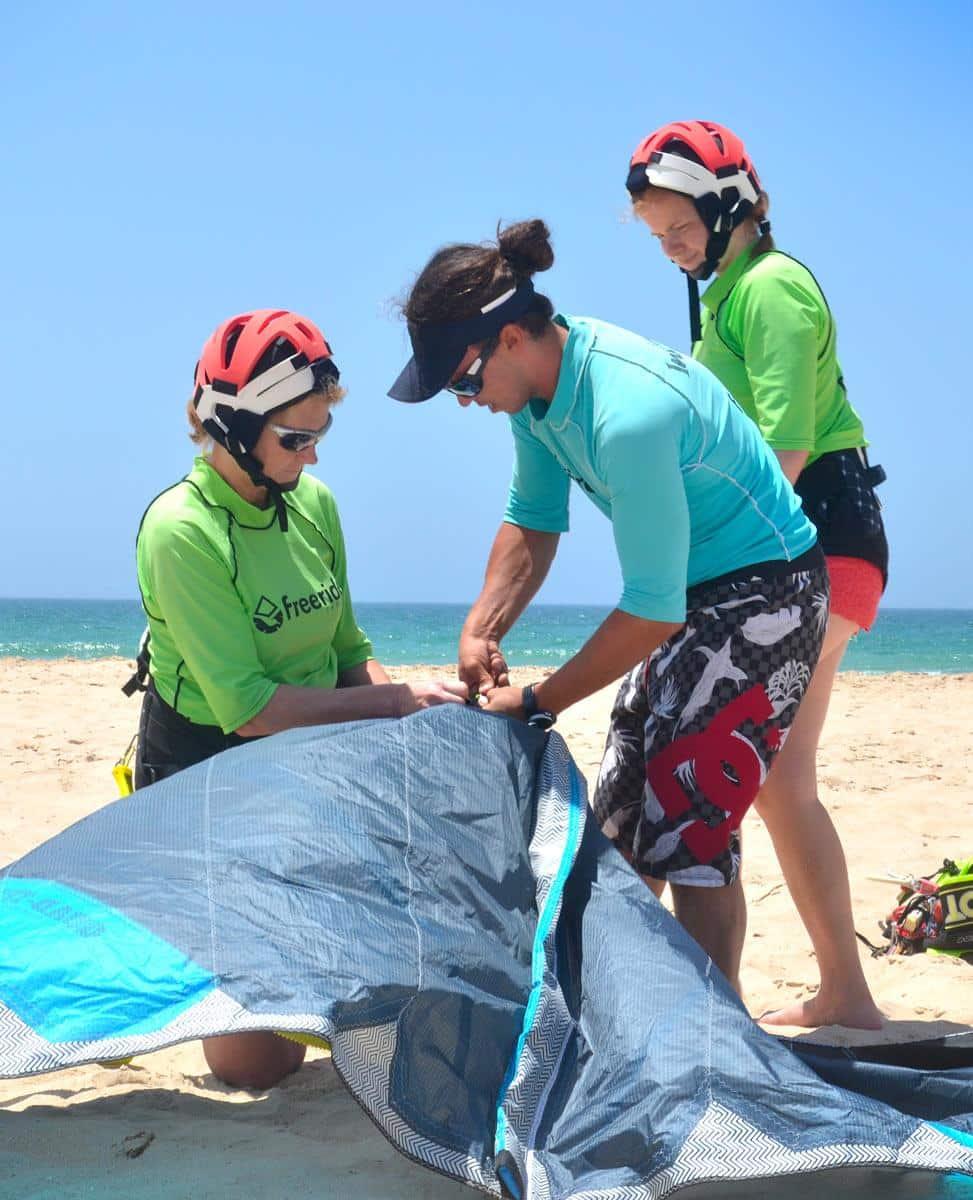 kiteboarding with brand New Naish gear
