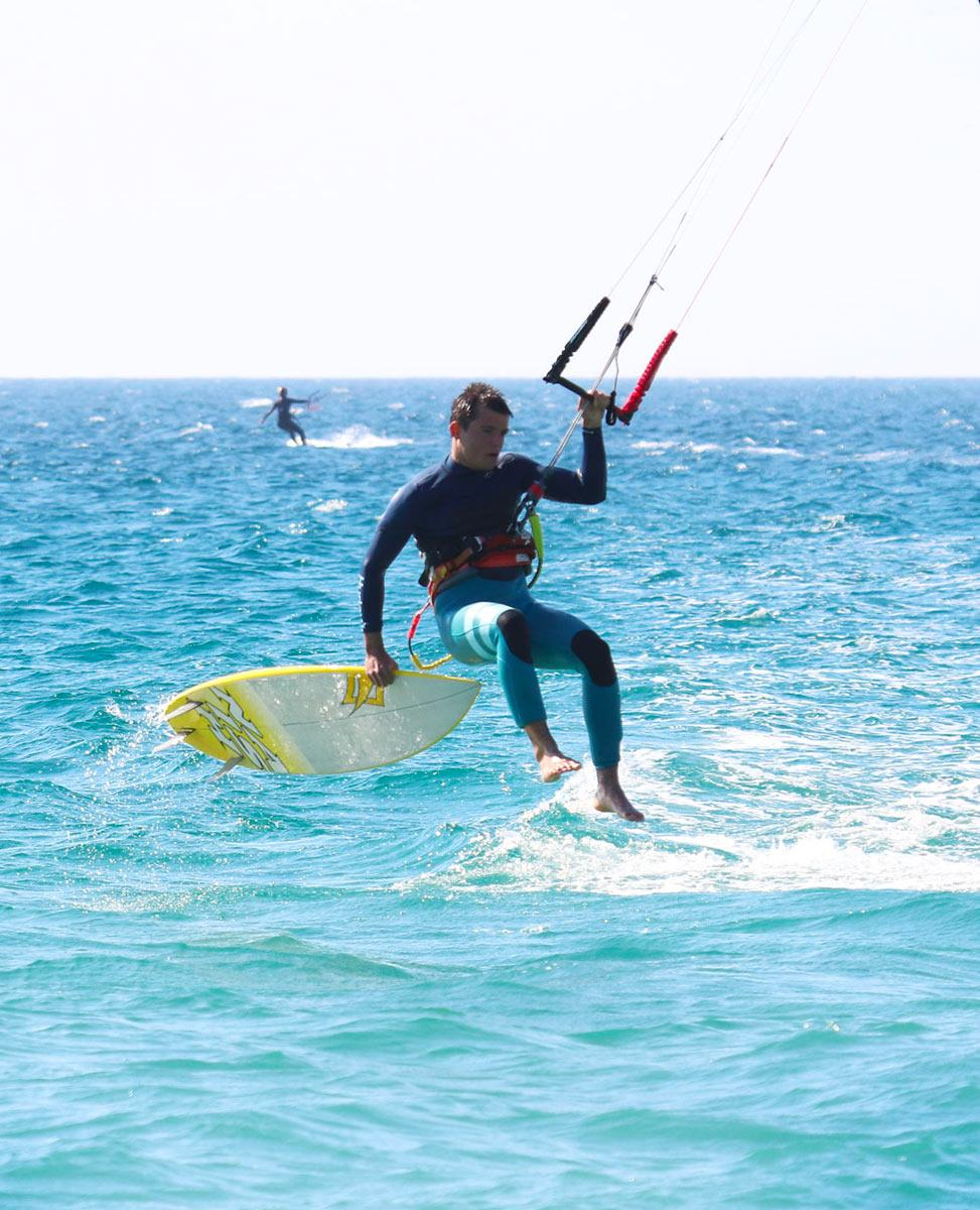 Surf board and kite Naish equipment rent in Tarifa with Freeride Tarifa Spain