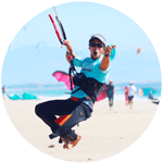 Julien is IKO level 2 working as kiteboarder teacher in Tarifa with the Freeride's Kite School