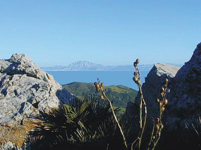 Amazing view from The Parque Natural Del Estrecho Tarifa, Spain
