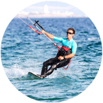 Kiteboarder teacher with IKO Level 2 in Tarifa, Freeride Tarifa Kitesurf School