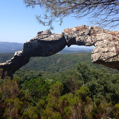 Amazing view from The Parque Natural Los Alcornocales Tarifa, Spain