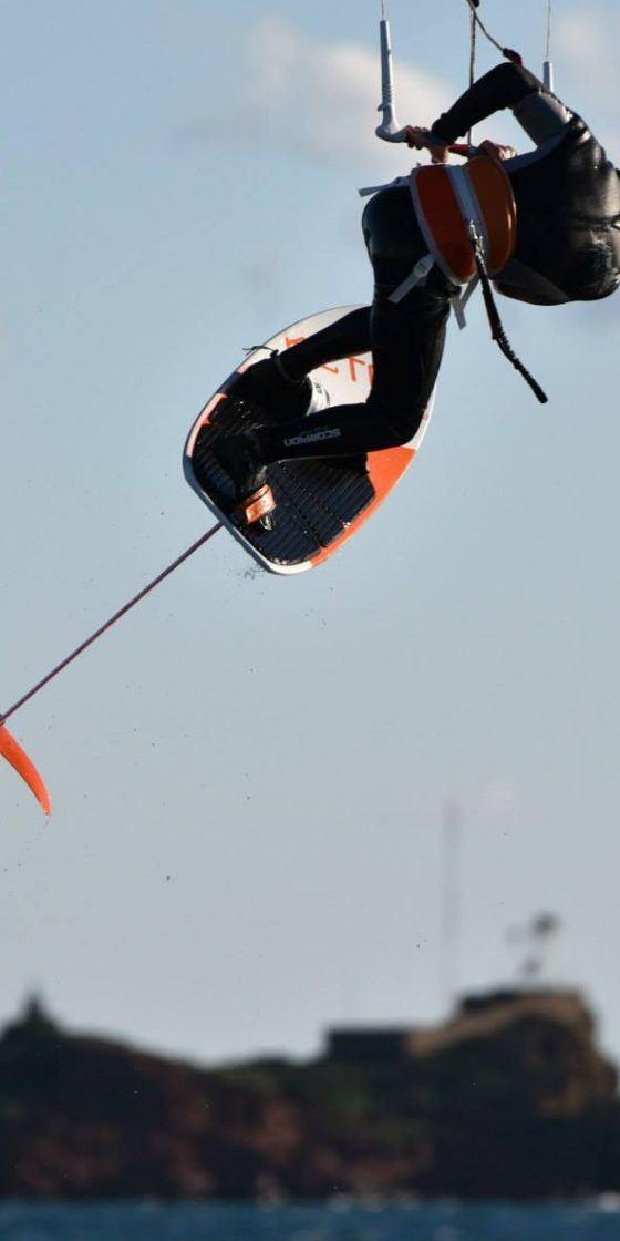 Kitefoil, foil Ketos in full carbon. Freeride Tarifa Partner