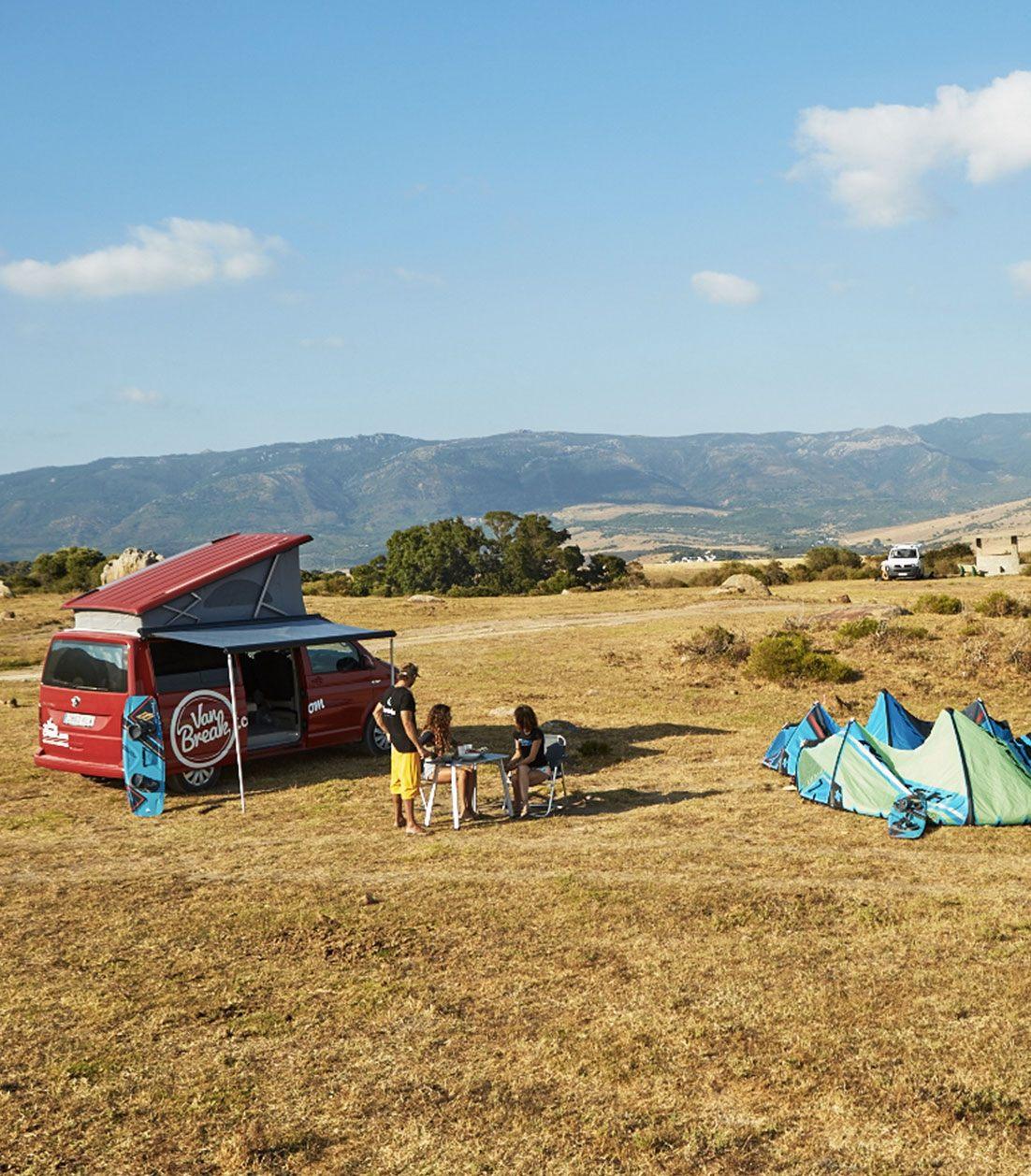 Road Trip Campervan Tarifa with kitesurfing lessons