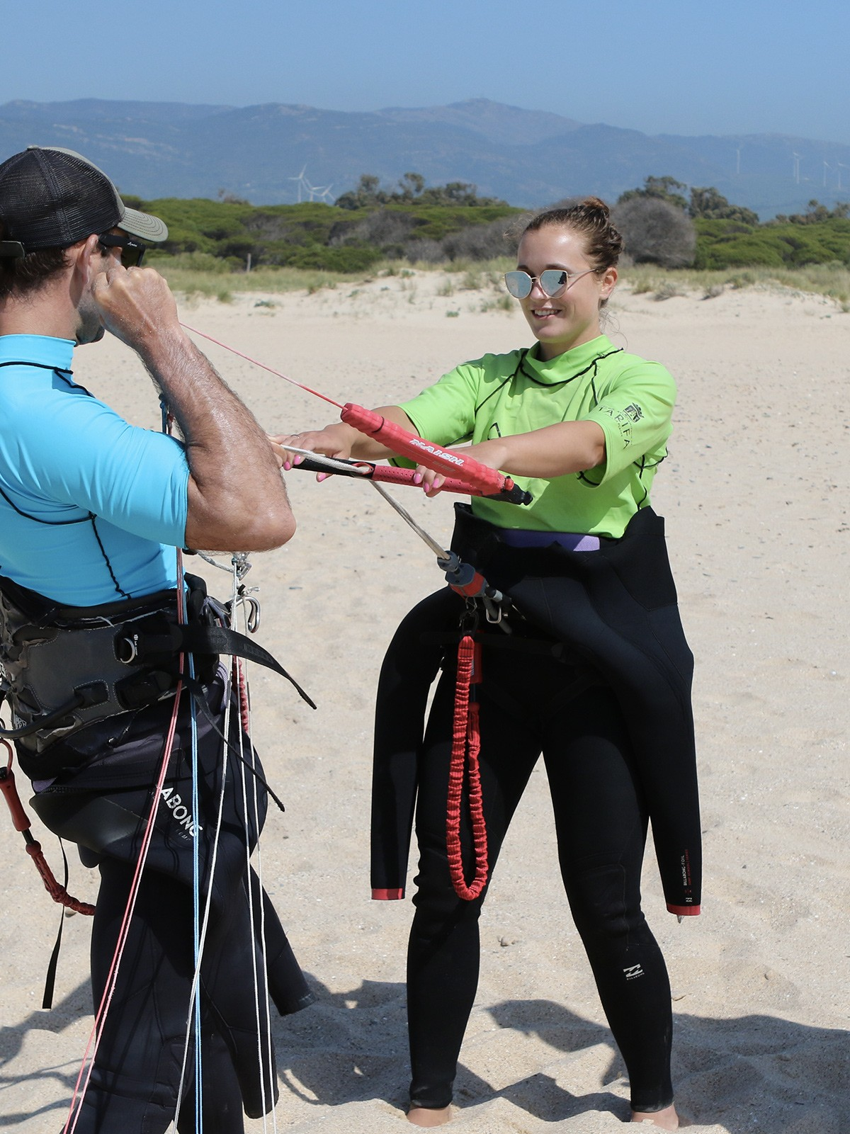 Système de sécurité cours de kitesurf semi-privé