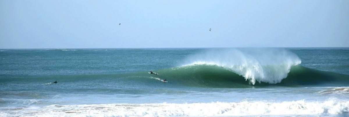 Spot de surf plage el Palmar en Espagne