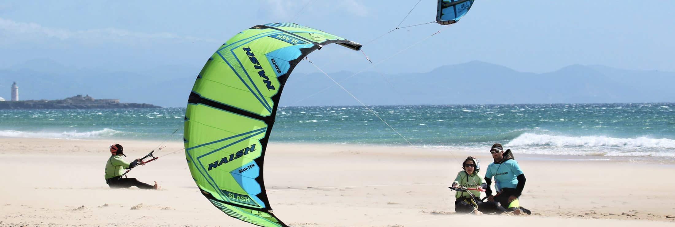 Plage de Los Lances Nord a Tarifa, spot de kitesurf