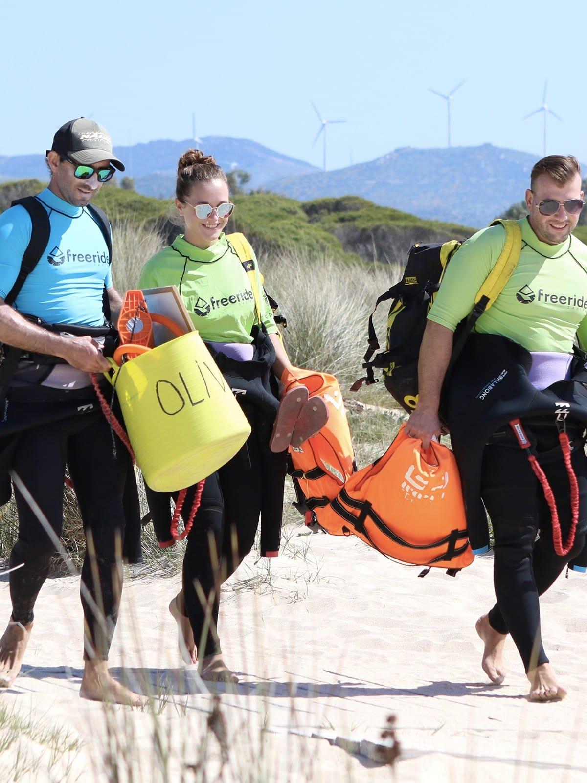 stage de kitesurf en groupe a Tarifa