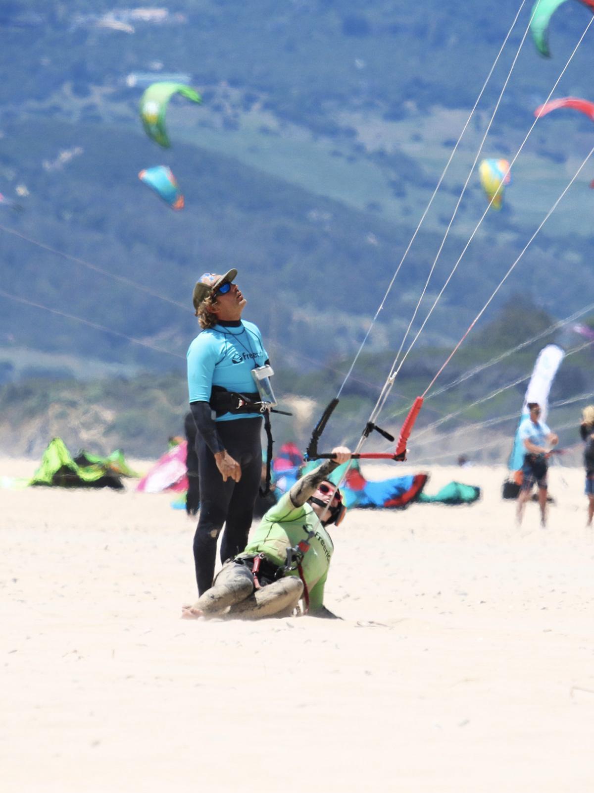 le contrôle du kite à los Lances, Tarifa