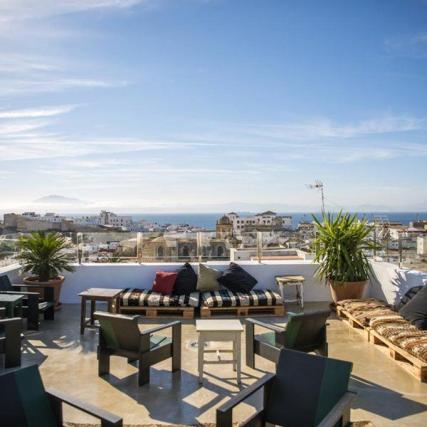 Rooftop Sea view and old town view Kook hotel Tarifa