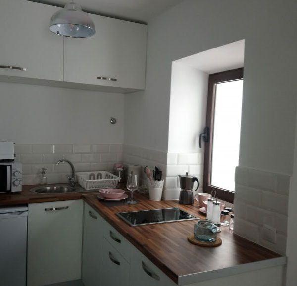 cocina del estudio en Tarifa