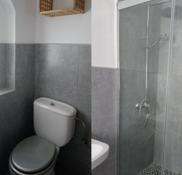 apartamento con baño y ducha