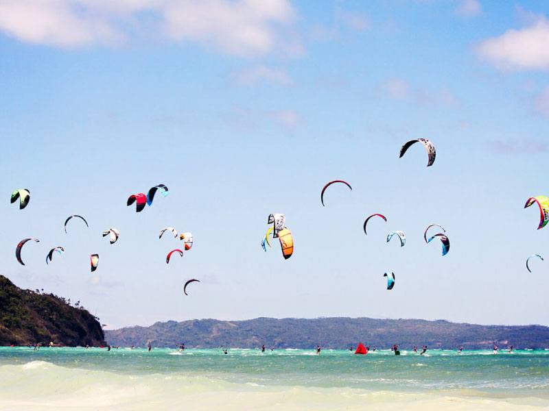 Kitesurfing spot in Balabog beach
