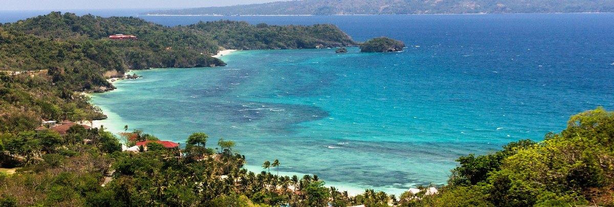 Panoramic view of Boracay Island