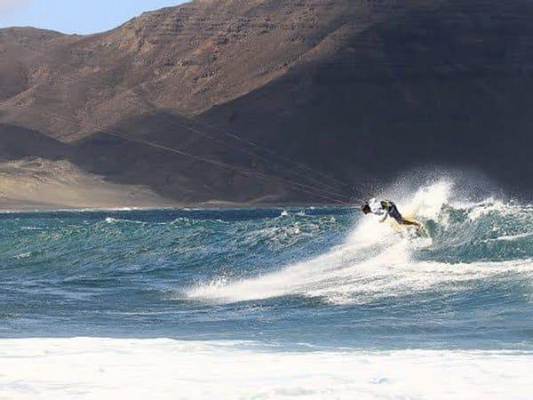 Wave kitesurf spot capo verde