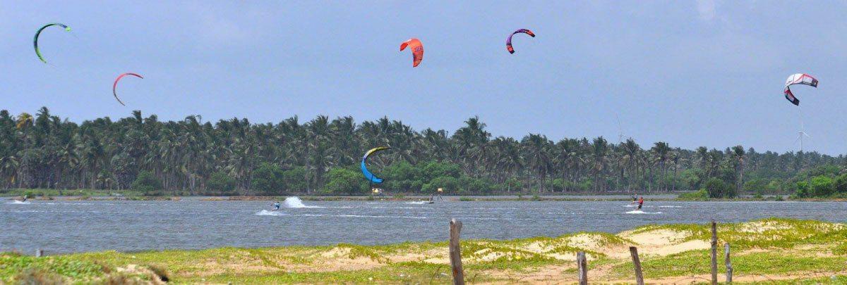 Kappalady Lagoon for kitesurfing Sri Lanka