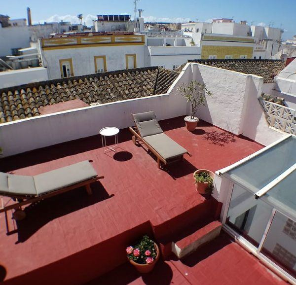 Rooftop terrace apartment old town Tarifa